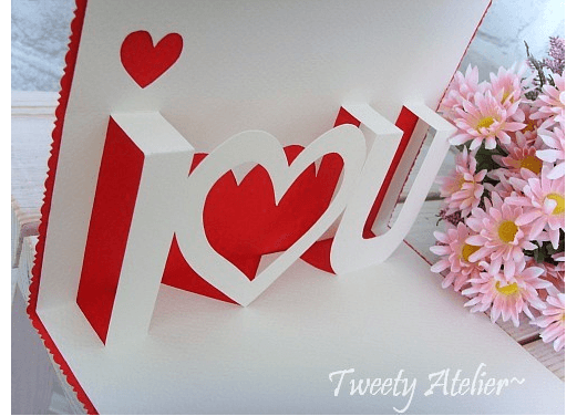 Pop up card tutorial – Valentines day