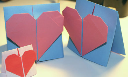 Origami Valentines Day Heart Card Tutorial # 2