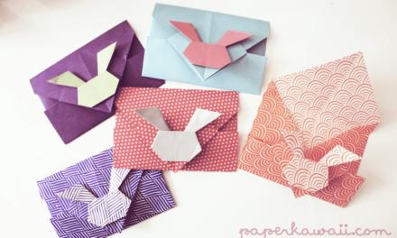 Video Tutorial – Origami Bunny Rabbit Envelopes
