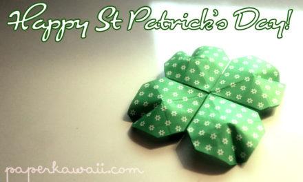 Origami Shamrock for St Patrick's Day