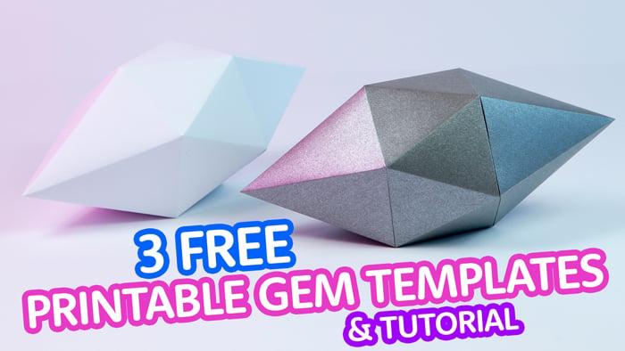 printable paper gems