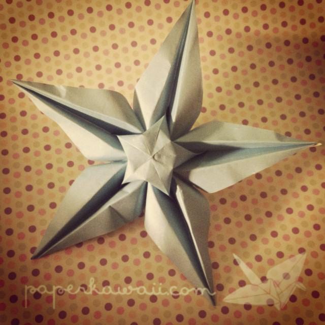 origami star flower video tutorial
