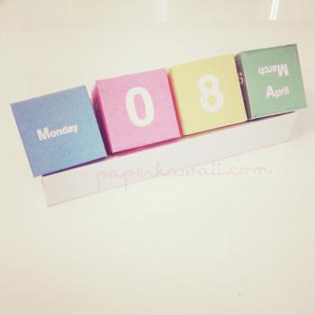 Cute-Perpetual-Cube-Calendar