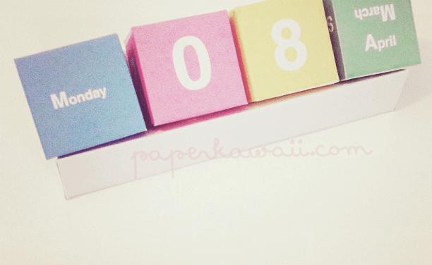 Cute Perpetual Cube Calendar