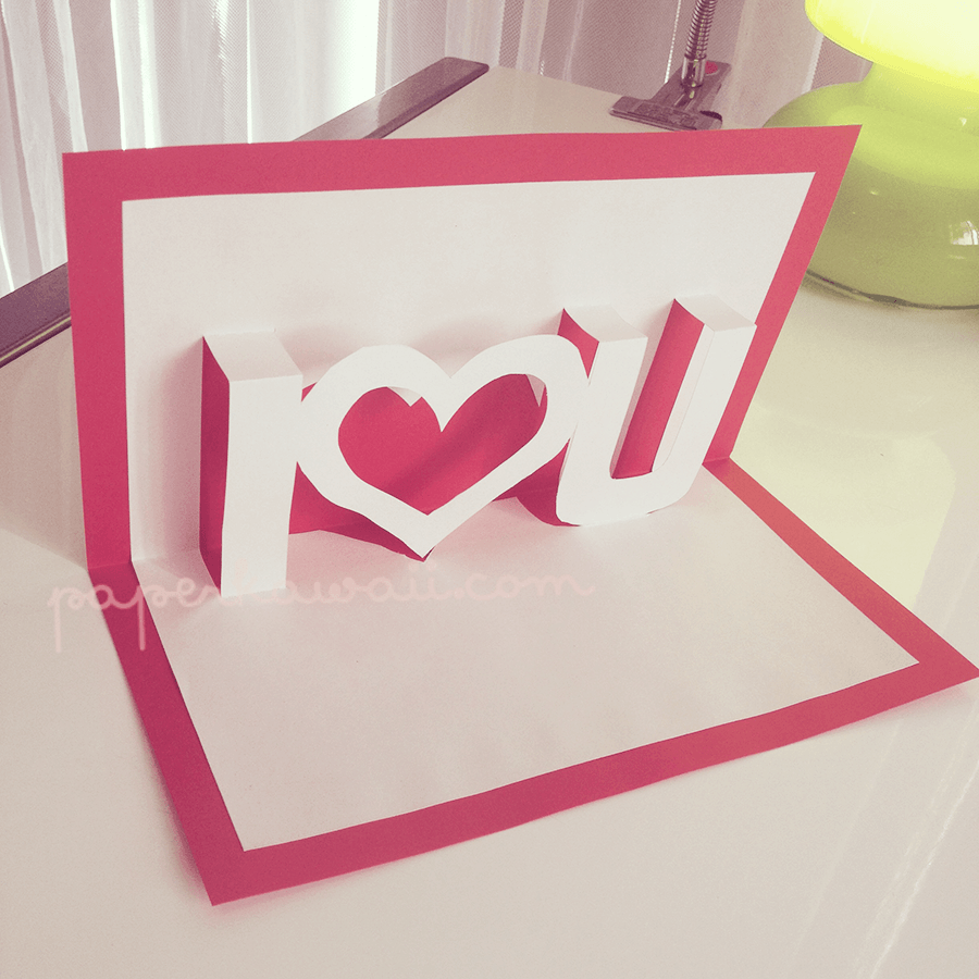 pop up valentines card template i  u2665 u