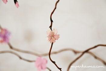 diy origami cherry blossom tree