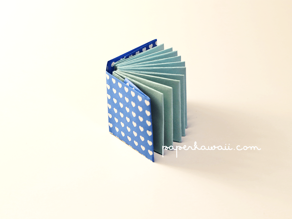 how to make a mini book out of a4 paper