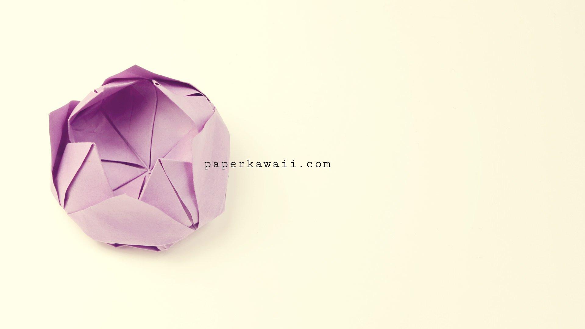 easy origami lotus video tutorial paper kawaii