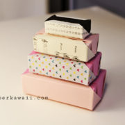 video Tutorial origami modualer kirigami kawaii gift cute box