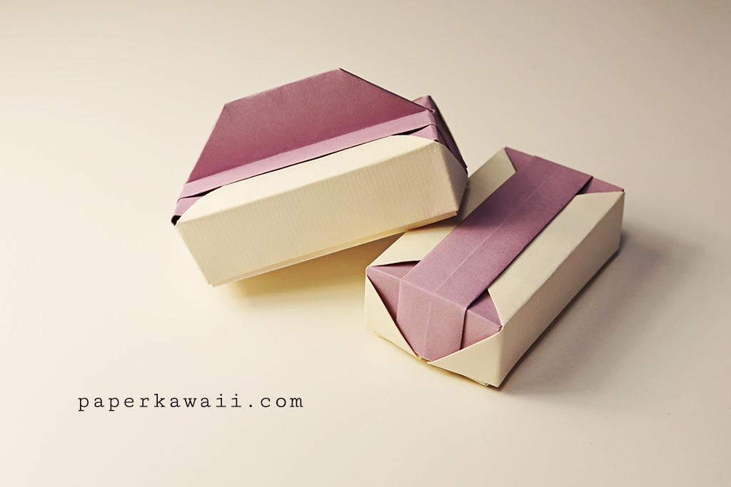 origami gift box tutorial video paper kawaii