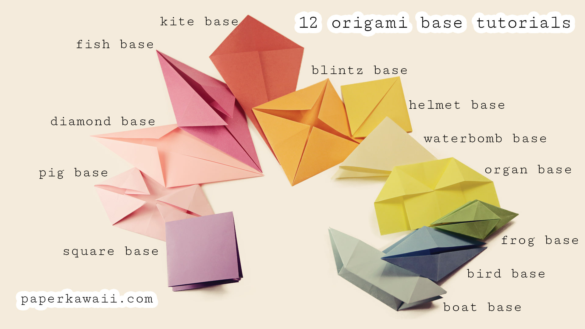 origami base folds for beginners paper kawaii