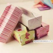 Origami Long Box & Lid with Handle via @paper_kawaii