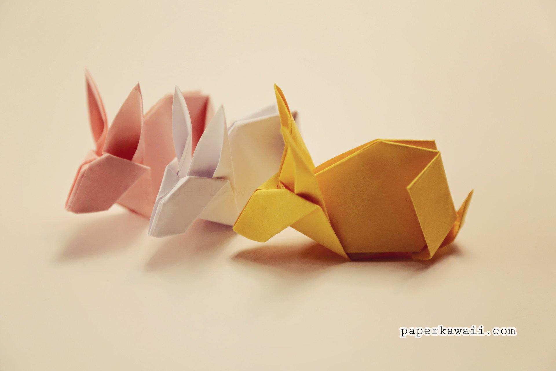 Origami bunny tutorial