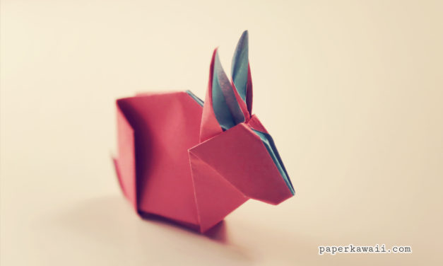 Origami Bunny Rabbit Tutorial & Diagram