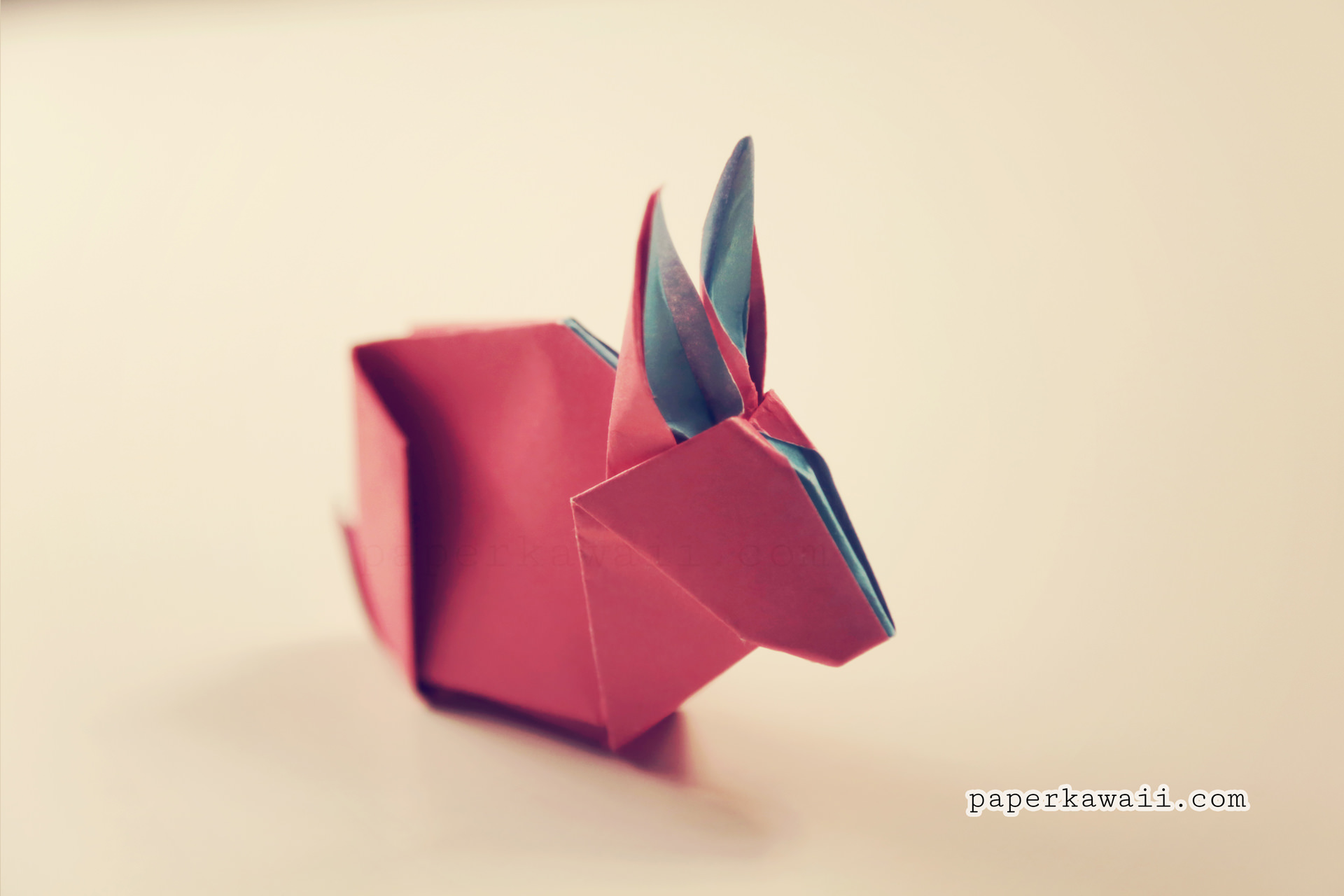 Origami Bunny Rabbit Tutorial Amp Diagram Paper Kawaii