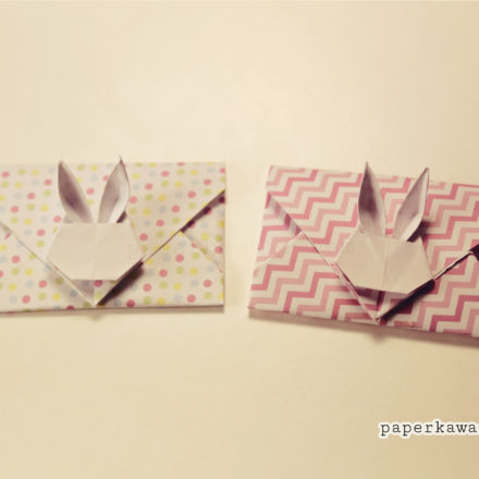 Video Tutorial - Origami Bunny Rabbit Envelopes via @paper_kawaii
