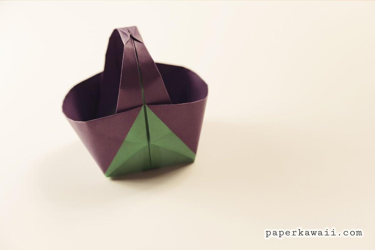 origami easter basket origami easter basket crafts