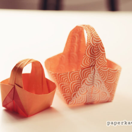 Origami Easter Egg Gift Box Tutorial via @paper_kawaii