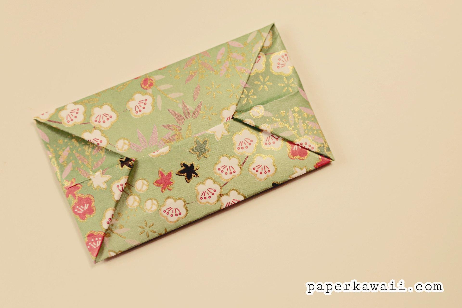 easy origami envelope tutorial paper kawaii