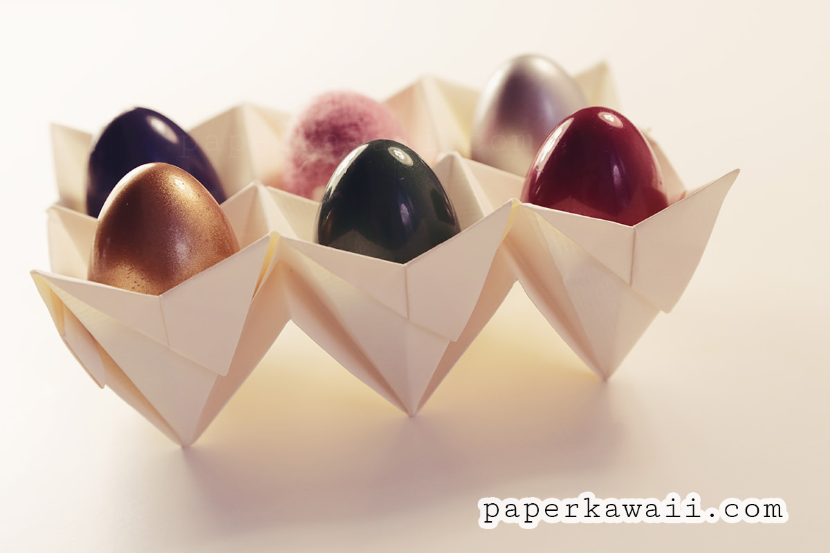 origami egg box tutorial easter paper kawaii