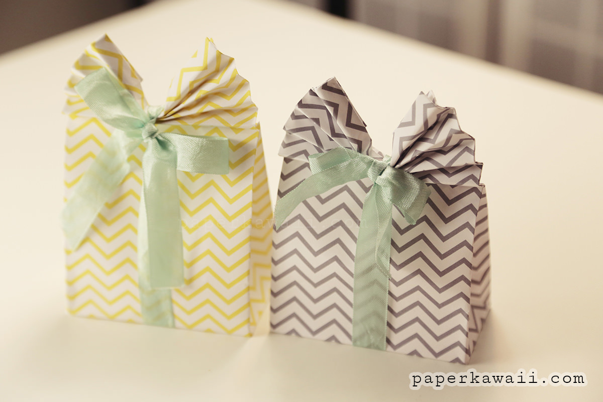 Origami Gift Bag Tutorial & Free Printable Patterns via @paper_kawaii