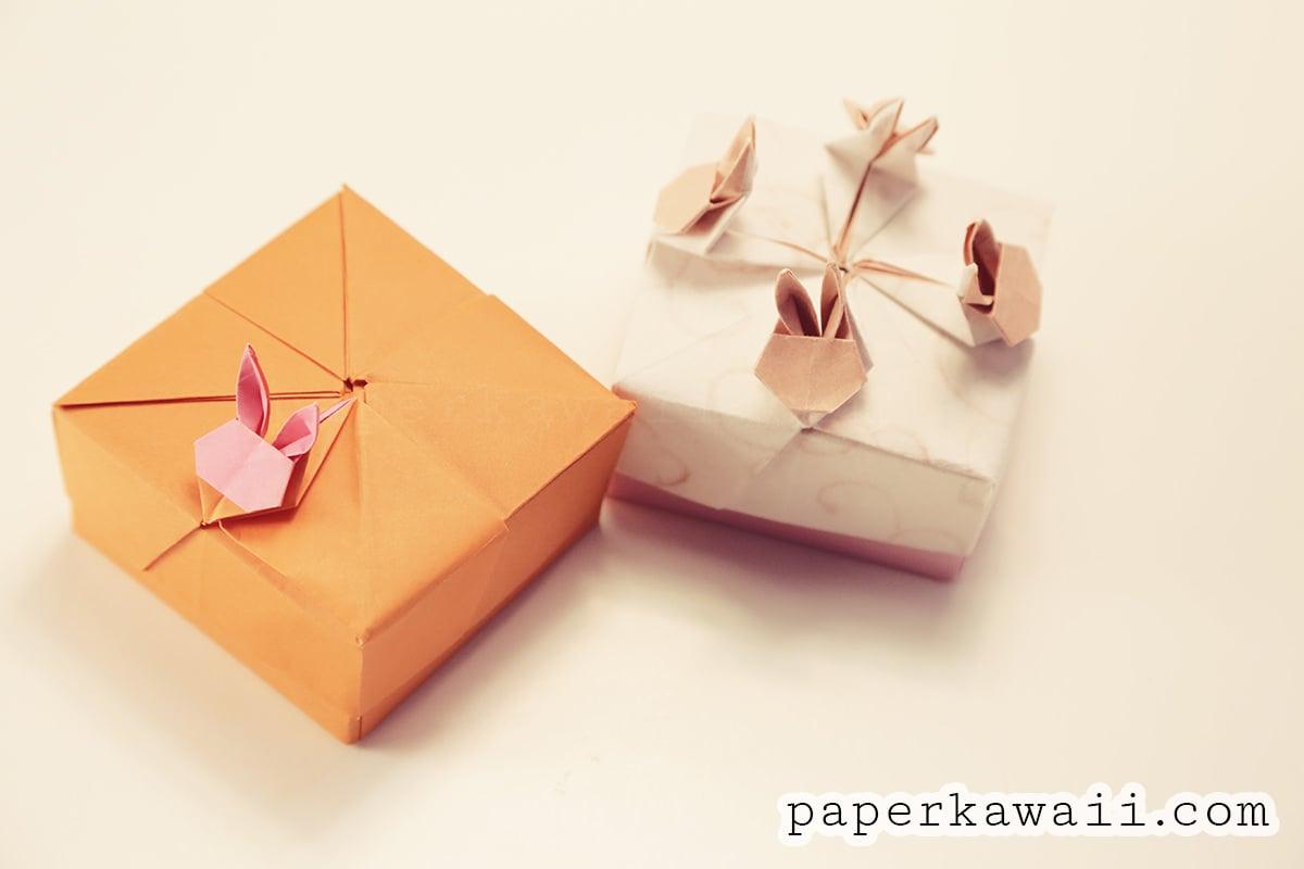 modular origami rabbit box tutorial paper kawaii