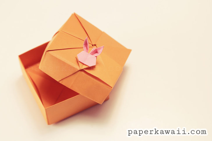Modular Origami Rabbit Box Tutorial via @paper_kawaii