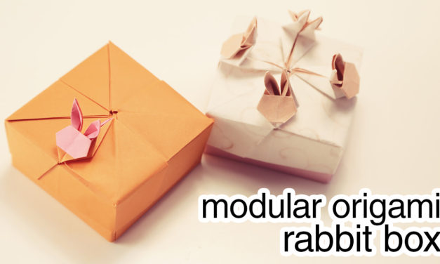 Modular Origami Rabbit Box Tutorial