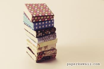 Mini modular origami book tutorial via @paper_kawaii