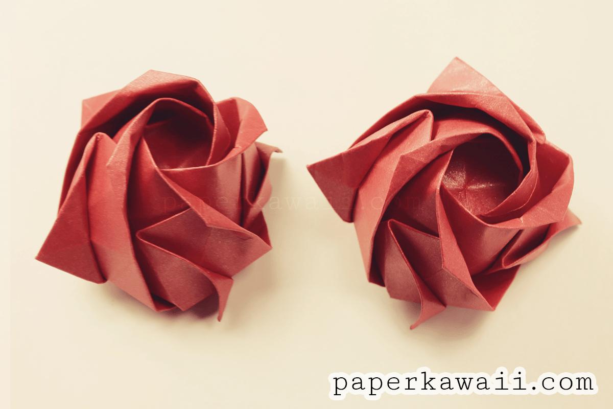 Origami kawasaki rose video tutorial paper kawaii