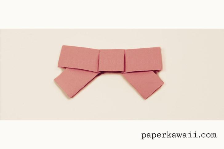 Cute Origami Bow Video Tutorial via @paper_kawaii