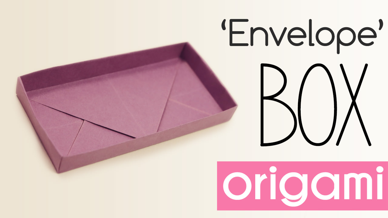 Origami Rectangular 'Envelope' Box Tutorial via @paper_kawaii