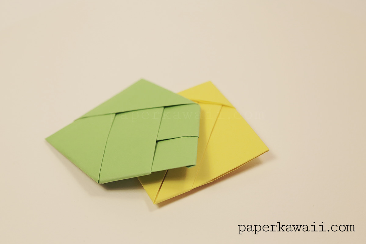 origami bamboo letter fold paper kawaii