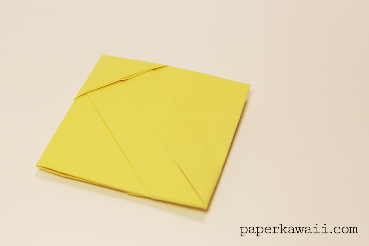 origami square letter fold tutorial paper kawaii