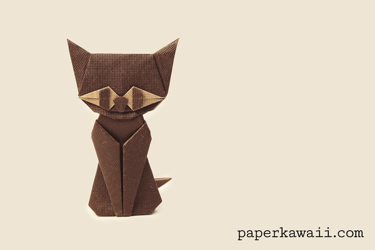 origami cat instructions easy