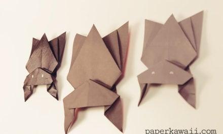 Hanging Origami Bat for Halloween!