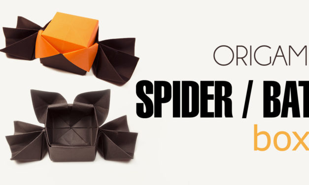 Origami Spider or Bat Candy Box – Halloween