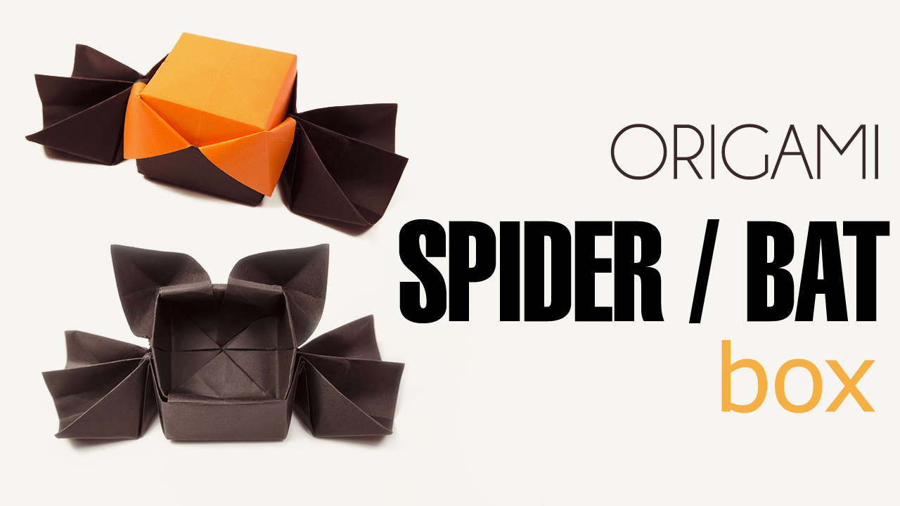 Origami spider or bat candy box halloween paper kawaii jeuxipadfo Gallery