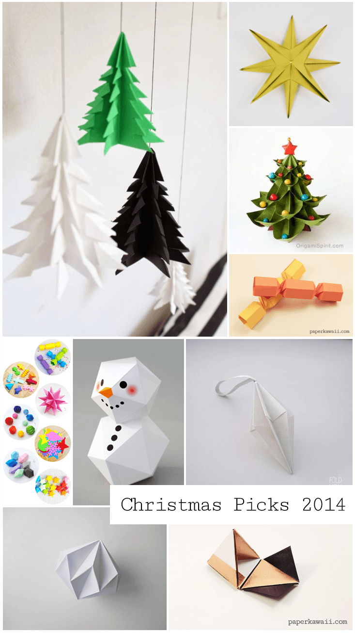 Christmas Origami 2014 Round Up Paper Kawaii