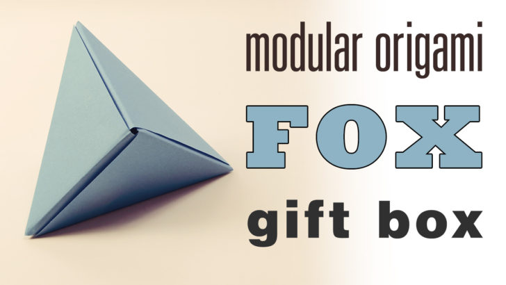Modular Origami 'Fox Box' Video Tutorial via @paper_kawaii