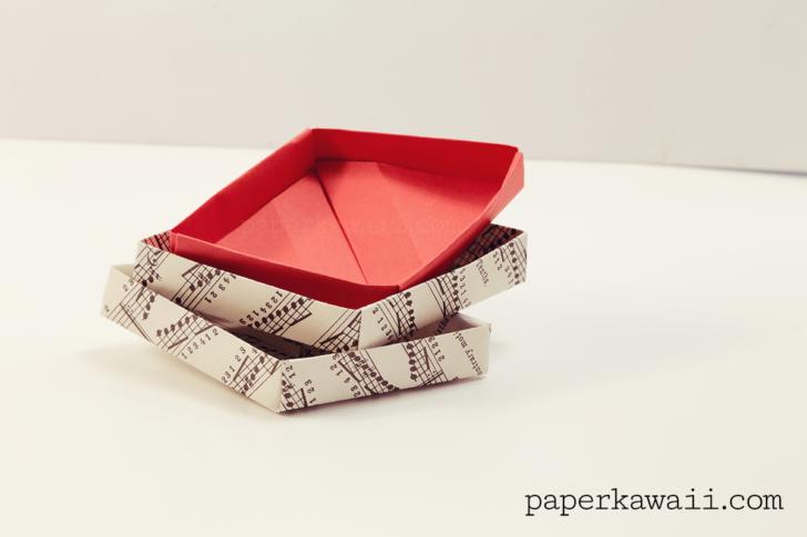 Origami Diamond Box Video Tutorial via @paper_kawaii