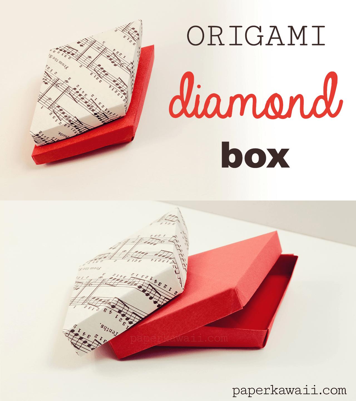 Origami Diamond Box Video Tutorial - Paper Kawaii - photo#35