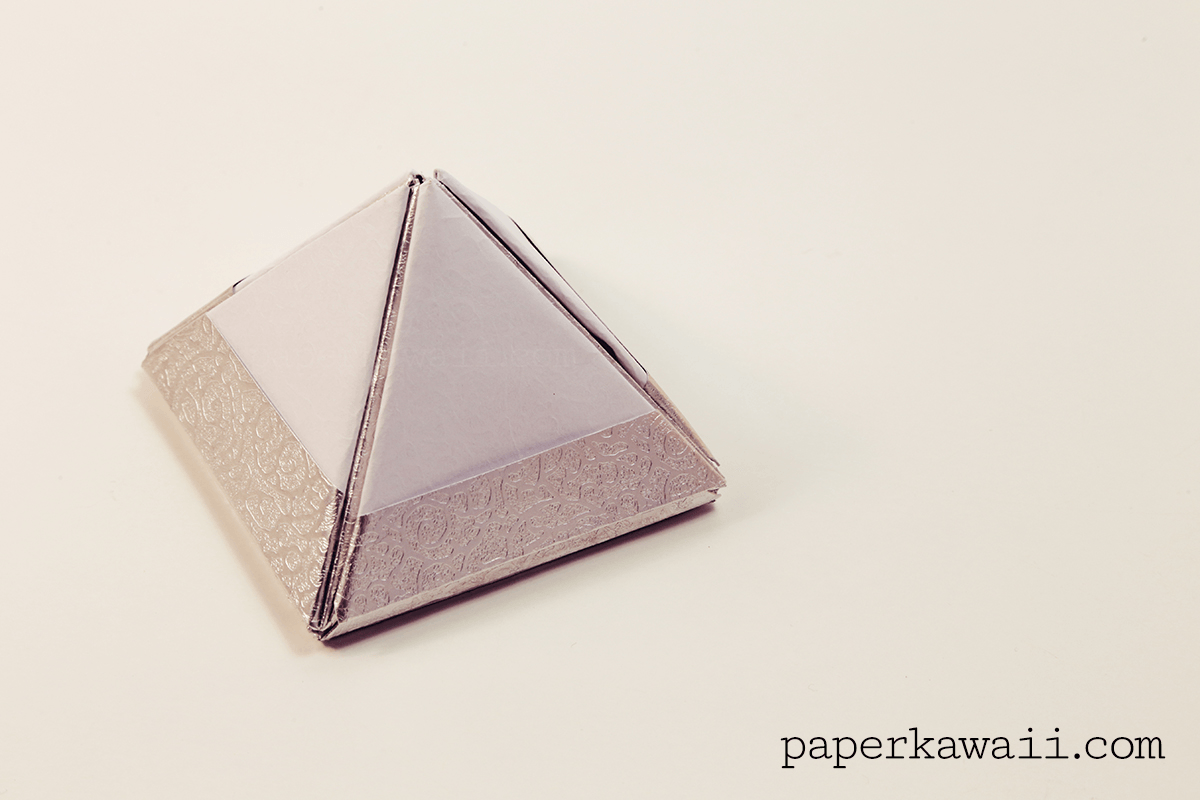Modular Origami Pyramid Box Video Tutorial - Paper Kawaii - photo#6