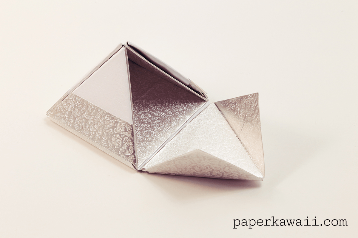Modular Origami Pyramid Box Video Tutorial - Paper Kawaii - photo#5