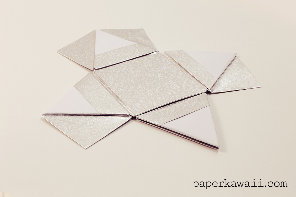 Modular Origami Pyramid Box Video Tutorial - Paper Kawaii - photo#2