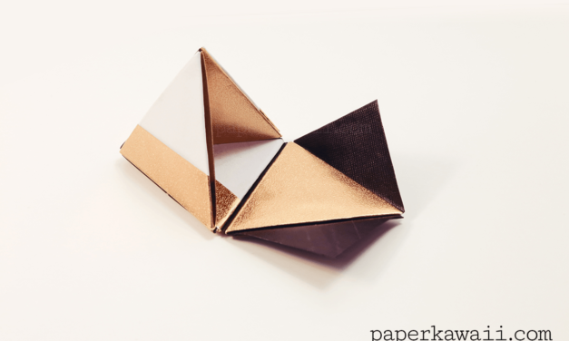 Modular Origami Pyramid Box Video Tutorial