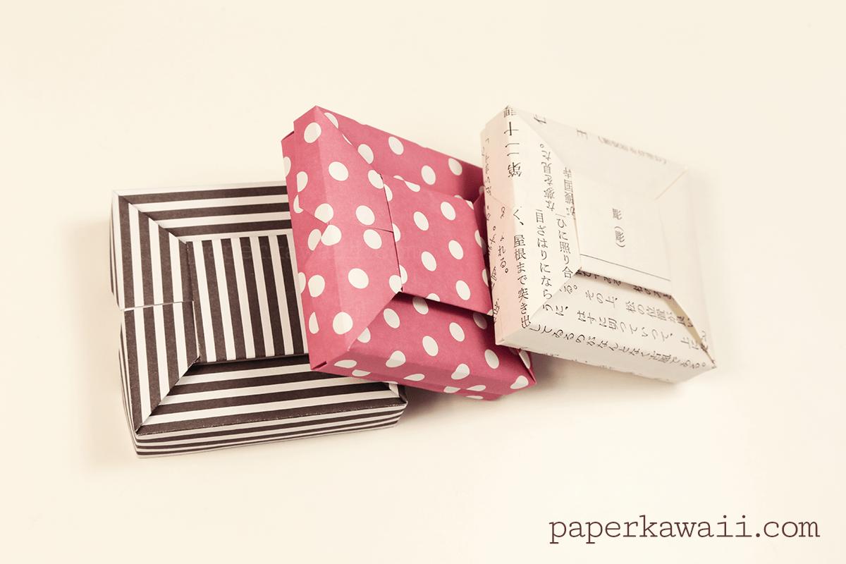 Origami bow gift box video tutorial paper kawaii