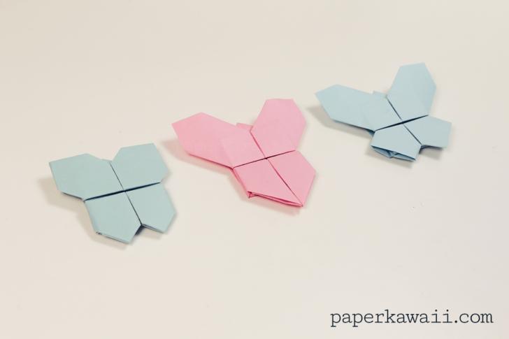 Origami Butterfly Tutorial 3 in 1 via @paper_kawaii