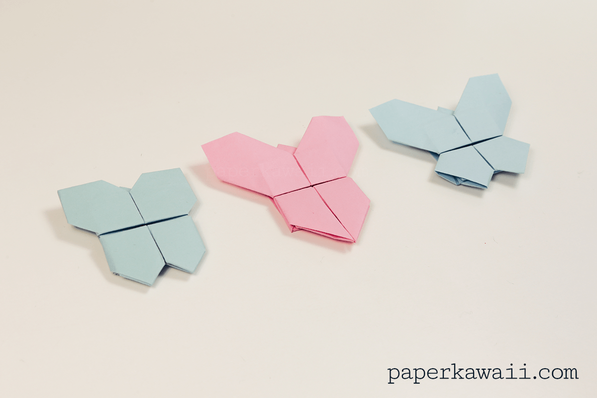 Origami Butterfly Tutorial 3 in 1 - Paper Kawaii - photo#29