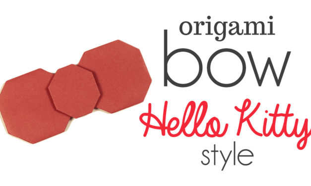 Origami Hello Kitty Bow Video Tutorial